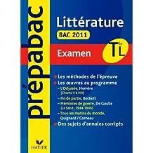 Prépabac examen Littérature Tle L Bac 2011