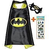 Batman Super Héroes de disfraces para niños - Cape y máscara - Juguetes para niños y niñas - Disfraz para niños de 3 a 10 años - para Fasching o temática de fiestas. Mungo - King - kmsc005