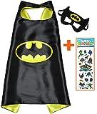 Costumes de Super Héros Batman pour les enfants - Cape et masque - JOUETS POUR garçons et filles - Costume pour enfants de 3 à 10 ans - pour carnaval ou la devise de fêtes. - King Mungo - kmsc005