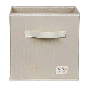Uberlyfe Beige 1Pc Kids Toy Storage Box (KSB-1304-Cub-Cr1Pc)