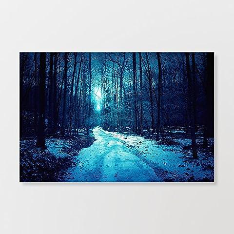 Forêt d'hiver Scène de neige Grande photo sur toile illustrations -24
