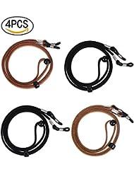 4 PCS Brillenband lunettes en cuir corde réglable PU lunettes de maintien de la moelle cordon lunettes corde