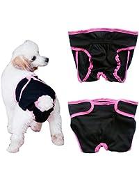 Freebily Pañal Reutilizable Lavable para Mascota Perro Gato Cachorro Braguita Grande Ajustable Permeable al Aire