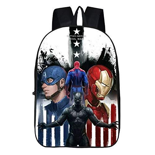 Backpack Mochila Escolar para Niños 3D The Avengers Black Panther Mochilas Impresas para Niños 17...
