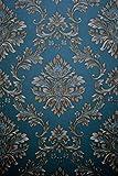 Vinyltapete Tapete Barock Retro # türkis/gold # Kingwelson # 361403