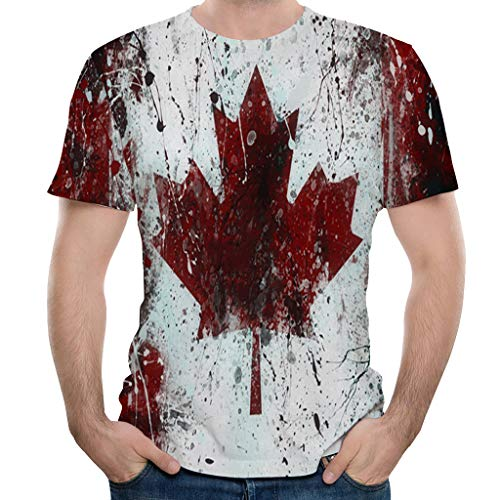 Magiyard Mode Hommes Splash-Ink Impression en 3D T-Shirt Manche Courte T-Shirt Hauts De Blouse