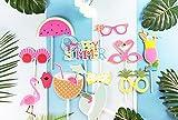 SUNBEAUTY Sommerfest Fotorequisiten 12er Set Booth Props Flamingo Foto Requisiten - 6