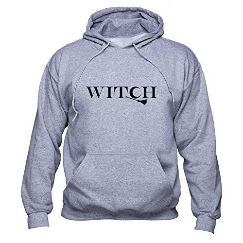 Witch sweatshirt BFF hoodie Best Friend Pullover Gift for Girlfriend Unisex Sudadera con capucha Gris XL