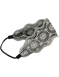 Womens Lace Headband Retro Hair Band Wide Headwraps Hair Accessories