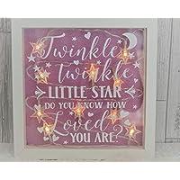 Baby Girl Night Light, Twinkle Twinkle Little Star, Nursery Decor, Girls Bedroom Decor, Night Light, New Baby Girl Gift