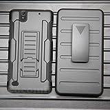 Cocomii Robot Armor Sony Xperia C4 Hülle [Strapazierfähig] Gürtelclip Ständer Stoßfest Gehäuse [Militärisch Verteidiger] Ganzkörper Case Schutzhülle for Sony Xperia C4 (R.Black)