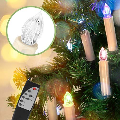 Jingrong Velas de Led,Velas de Árbol sin llama para decorar en Navidad,Boda,Fiesta de Cumpleaños,San Valentin y Pascua,Multi Colores(Pilas 20pcs no incluidas)