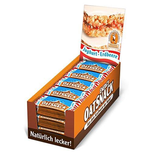 Davina Energy OatSnack, Müsli Riegel von Hand gemacht, Joghurt-Erdbeere, 30 x 65 g, 1er Pack (1 x 1.95 kg)