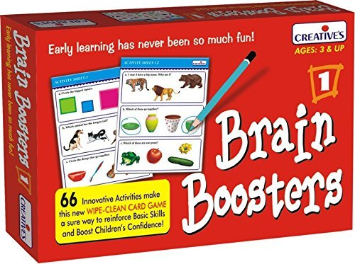 StonKraft Preschool Learning Toys Brain Boosters | Educational Toys | Learning Games | Wipe Clean Learning Books for Kids & Toddlers | Reasoning Games for Kids