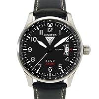 Junkers 66642 - Reloj analógico automático para hombre con correa de piel, color negro de Junkers