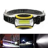 HCFKJ Super hell Wasserdichte COB LED 3 Modi Scheinwerfer AAA Taschenlampe Outdoor