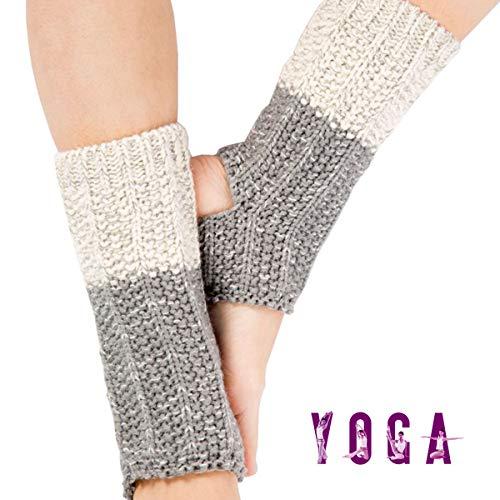 Grist CC Calzini Yoga Scaldamuscoli da Donna con Foro per Il Tallone per Allenarsi Pilates Danza,B