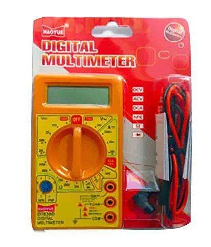 DT830D Small Digital Multimeter, Yellow