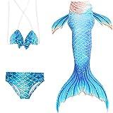 Das beste Mädchen Meerjungfrauen Bikini Kostüm Meerjungfrau Schwimmanzug Badeanzüge Tankini (110, 12)
