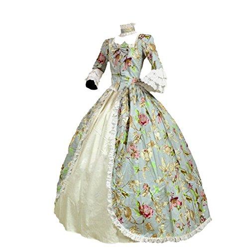 Partiss Damen Frauen Viktorianische Renaissance Kostuem Marie Antoinette Theater Ballkleid...