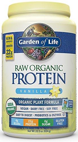Garden of Life Organic Vegan Protein Powder with Vitamins and Probiotics - Raw Protein Shake, Sugar Free, Vanilla 22oz (624g) Powder Test
