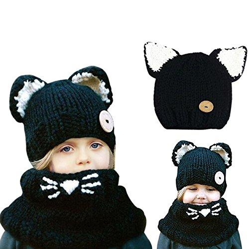 5af65ead2c0 Bonice Enfants Animal Casquette Manteau Tricot Capuche Cagoule hiver en  laine tricotés chapeaux bÃ
