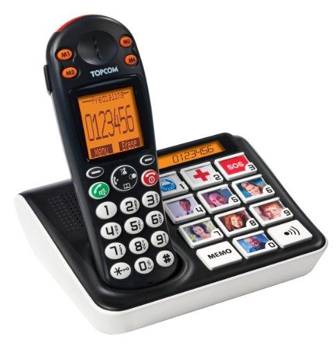 Topcom TS-5611 – Teléfono con Teclas con Fotos, Timbre Muy Alto
