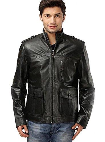 HI CLASS LEATHER Black Stylish Leather Jacket for Men