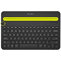 Logitech K480 Wireless Multi-Device Keyboard for Windows, Apple iOS, Android or Chrome, Wireless Bluetooth, Compact Space-Saving Design, PC/Mac/Laptop/Smartphone/Tablet - Black