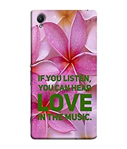 PrintVisa Designer Back Case Cover for Sony Xperia Z4 Mini/Compact (you can love in music)