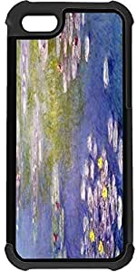 Claude Monet Art Nympheas at Giveny 2-In-1 Black Hard Plastic top with Black Silicone Rubber Protective Insert Case Cover for Apple iPhone 5 & 5s sell on Zeng case