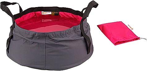 Generic 8.5L Outdoor Camping Folding Wash basin Bucket Travel Bag Rose Red