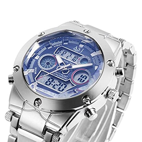 ML Waterproof Gents Chronograph Stainless Steel Electric Quartz Watch Calendar