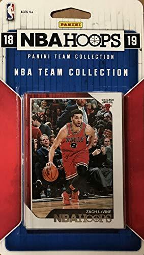 36009f0f757 Chicago Bulls 2018 2019 Lot de 10 Cartes de Basketball sous Licence  Officielle NBA avec Lauri