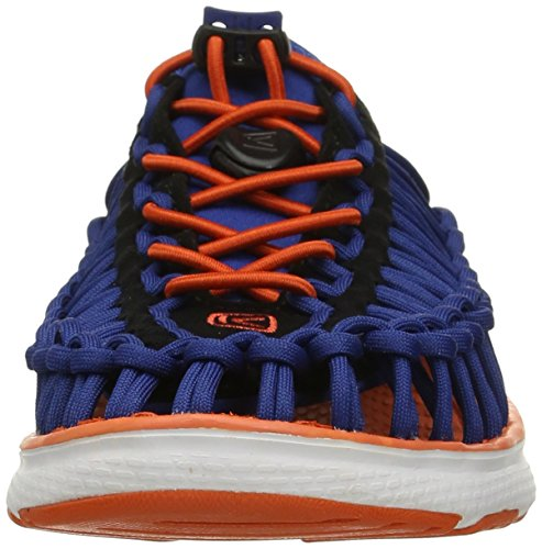 Keen Uneek O2 C, Sandali da Escursionismo Unisex – Bambini blue-orange