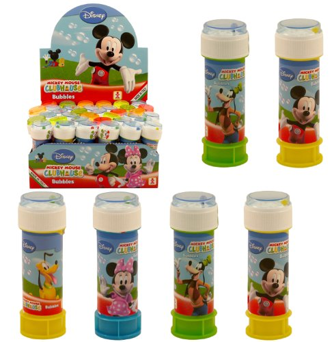 Seifenblasen-Set Mickie Maus, Disney, ideal für Kinder, 6-teilig