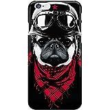 Coque rigide chien motard pour Apple iPhone 6 Plus