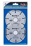 Blue Spot 19547 2 Piece 4 1/2 Inch Diamond Cutting Disc Set