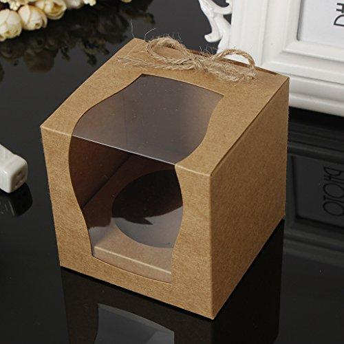 Tortenkartons Tortenschachteln Cupcake Box Verpackung für Torten, Kuchen, Muffins, usw. - Braun ()