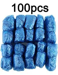 Togames-ES 100 Unids/Set Desechables Cubiertas De Zapatos De Plástico Habitaciones Aire Libre Lluvia Impermeable