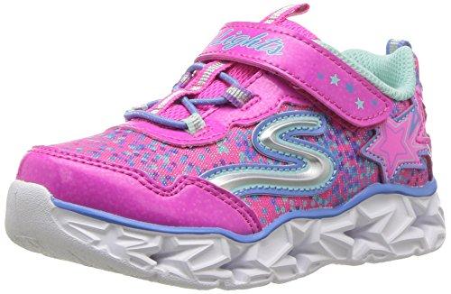 1 Größe Mädchen Skechers Schuhe (Skechers Sneaker, Groesse 32, Pink/Mint)