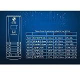 GBX Forniture per acquari per uso domestico-Riscaldatori per acquario Termostato digitale intelligente per acquario con interruttore indipendente e termostato intelligente 220V nero,Tubo singolo da 1