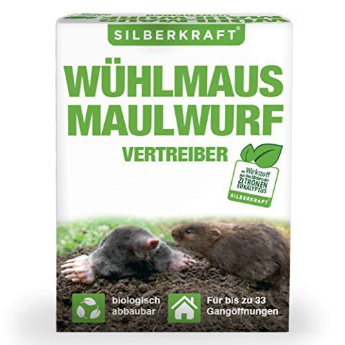Silberkraft Wühlmaus- und Maulwurfschreck, Granulat zur Abwehr & Bekämpfung, biologisch abbaubar, Maulwurf- und Wühlmausvertreiber zum Vertreiben und...