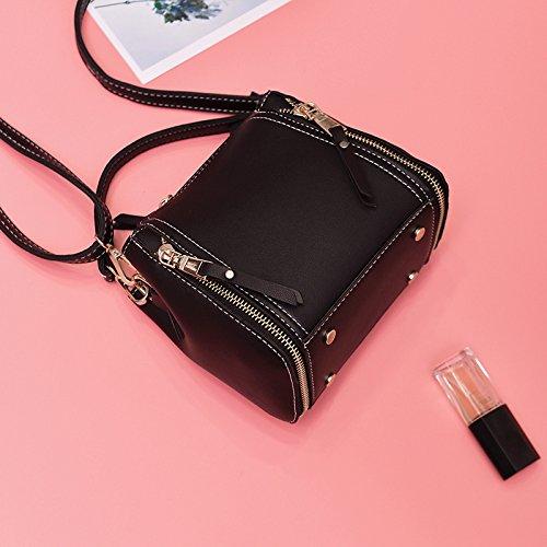 Pacchetto LiZhen donna nuova edizione coreana telefono polizze di carico della spalla borse donna elegante e versatile messenger ulzzang Mini Pacchetto, rosa Rosa