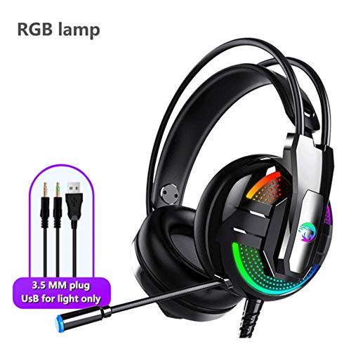 Generies Gaming Headset Professional Wired Headset Surround Noise Cancelling HD Mic