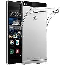 Funda Huawei P8, AICEK Protector Huawei P8 Funda Transparente Gel Silicona Huawei P8 Premium Carcasa para Huawei P8
