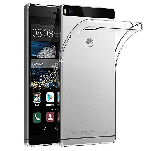 Huawei P8 Hülle Case, AICEK Ultra-Clear P8 Case Silikon Soft TPU Crystal Clear Premium Durchsichtig Handyhülle Schutzhülle Case Backcover Bumper Slimcase für P8 Soft Crystal Case