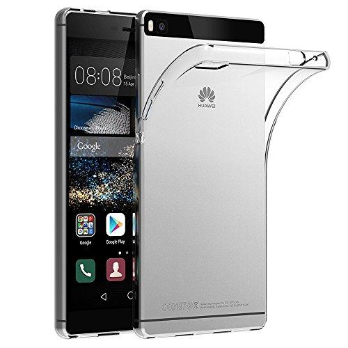 Huawei P8 Hülle Case, AICEK Ultra-Clear P8 Case Silikon Soft TPU Crystal Clear Premium Durchsichtig Handyhülle Schutzhülle Case Backcover Bumper Slimcase für P8