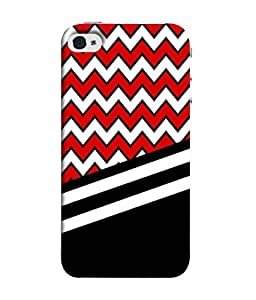 PrintVisa Designer Back Case Cover for Apple iPhone SE (Zig Zag Pattern With Crossed Lines)