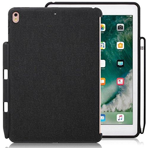 KHOMO Dual Case Cover Super Slim, Funda Carcasa Ultra Delgada y Ligera con Smart Cover para Nueva Tablet Apple iPad Pro (10.5 pulgadas), Negro (Back Pen Grey )
